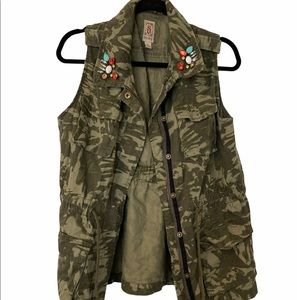 Bedazzled Army Vest